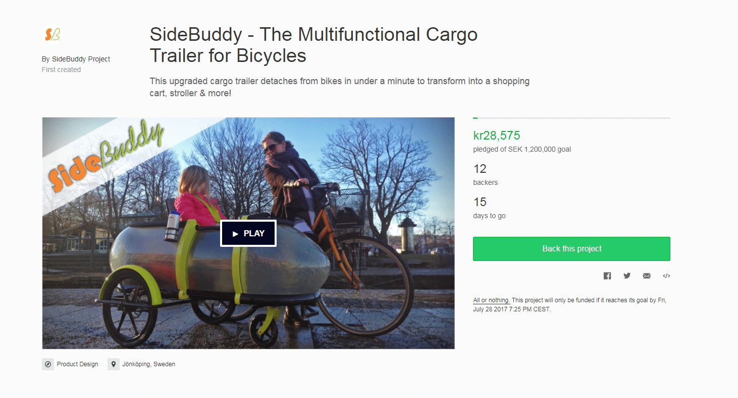 Sidebuddy Kickstarter front page for web