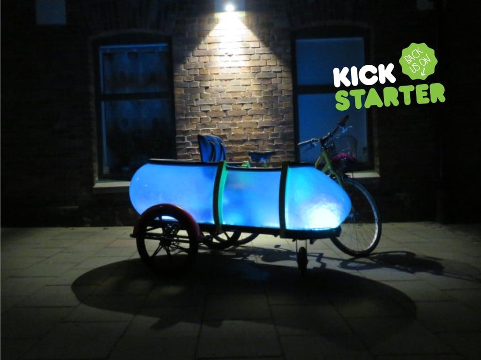 SideBuddy , nightbuddy, by Jordi Hans design Sweden, Cargo Trailer, cargo bike